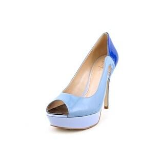 Marc Fisher Tumble 7 Women Open Toe Synthetic Blue Platform Heel