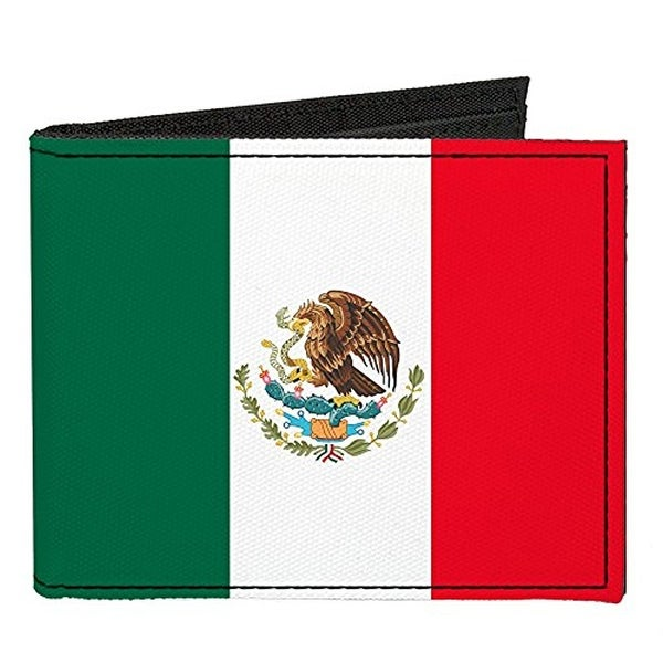 Buckle-Down Canvas Bi-fold Wallet - Mexico Flag Accessory