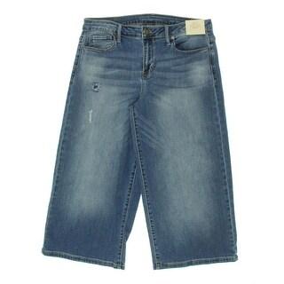 Calvin Klein Jeans Womens Capri Jeans Faded Light Wash - 30