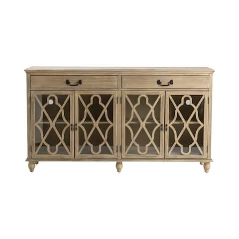 "Hawthorne Estate Coventry Ash Pine 2-drawer 4-door Fretwork Sideboard - 72""W x 39""H x 18""D"