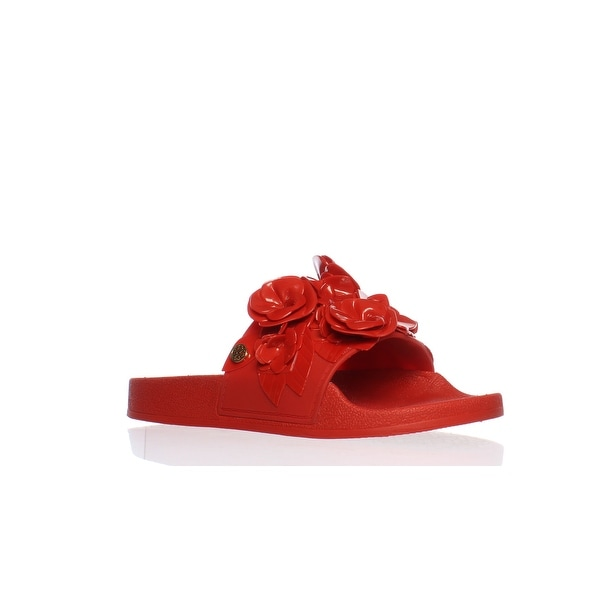 43f9165803735 Shop Tory Burch Womens Blossoms Red Volcano Slides Size 6 - Free ...