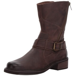 Walking Cradles Womens Dallas Leather Closed Toe Ankle Motorcycle Boots
