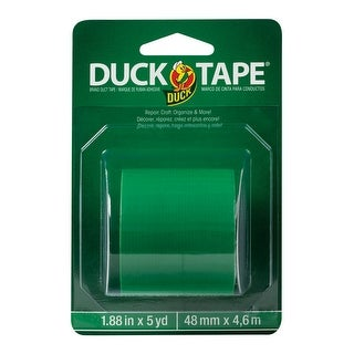 "Duck 285436 Solid Duct Tape, Green, 1.88"" x 5 Yard"