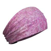 That's A Wrap Women's Tooled Leather Look Knotty Band Headwrap, KB3025-Pink - One Size Fits most