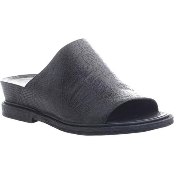3683f3229 Shop OTBT Women s Drifter Slide Black Leather - On Sale - Free Shipping  Today - Overstock - 11632598