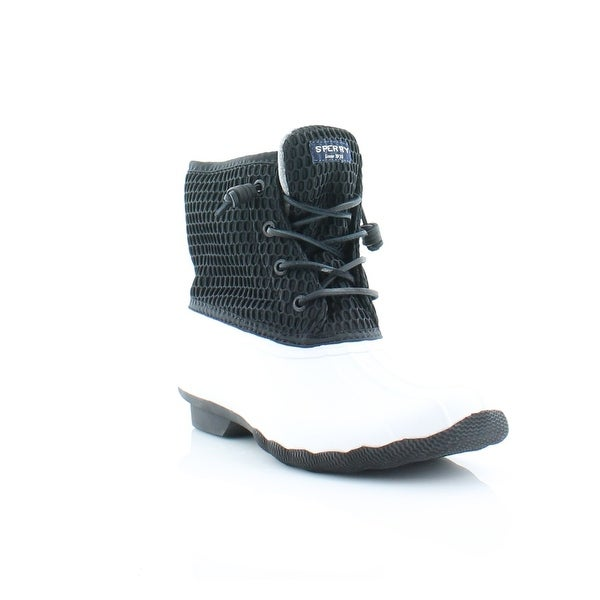 Sperry Top-Sider Saltwater Women's Boots Wht / Blk - 6.5