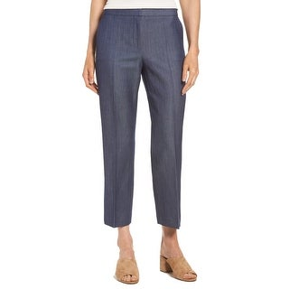 Hugo Boss Navy Blue Womens Size 0 Allery Cropped Trouser Pants