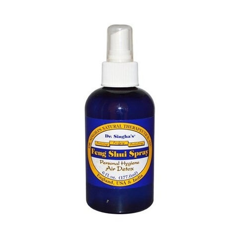 Dr. Singha's Mustard Bath Feng Shui Spray, Air Detox, 6 Fluid Ounce