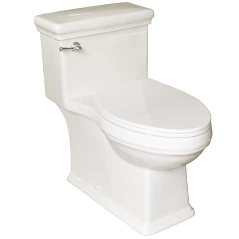 Mirabelle MIRKW241NS Key West 1.28 GPF Floor Mounted One Piece Elongated Toilet - Seat Included