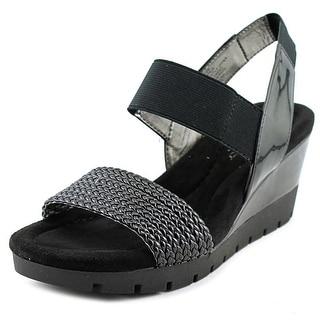 Bandolino Mateja Women N/S Open Toe Canvas Wedge Sandal