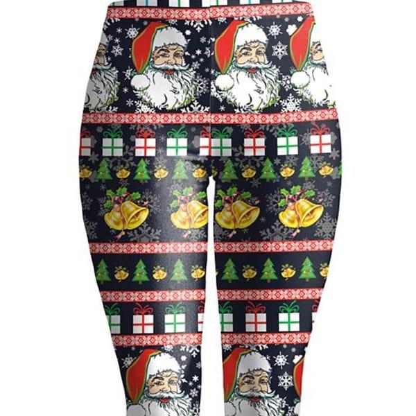 womens christmas leggings xxl black