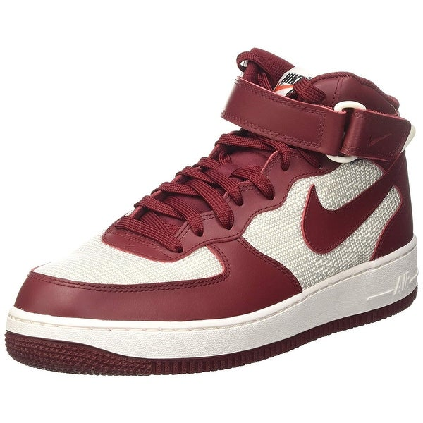 online store f3d21 45a4c Nike Mens Air Force 1 Mid 07 Leather Hight Top Lace Up Basketball Shoes
