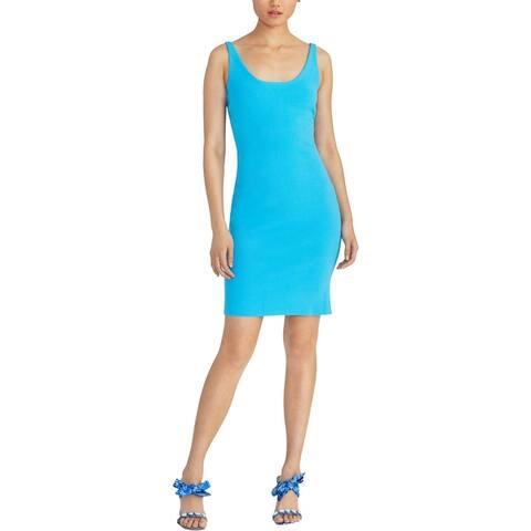Rachel Rachel Roy Womens Sheath Dress Cut Out Bodycon - Blue Jasmine