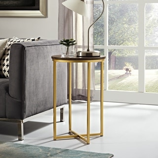 Link to Silver Orchid Helbling Modern Round Side Table Similar Items in Living Room Furniture