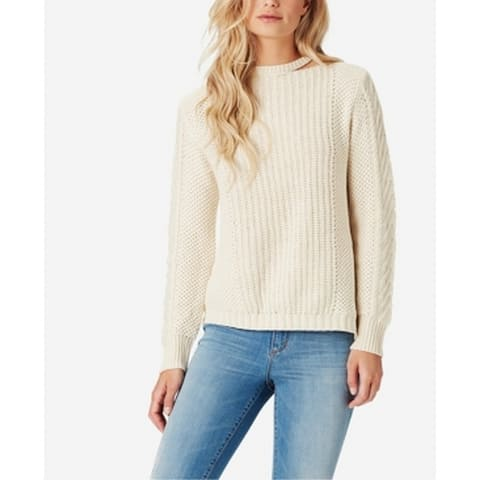 Jessica Simpson White Womens Size Medium M Cut Out Pullover Sweater
