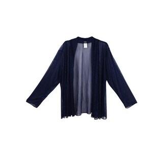 MSK Women's Plus Size Metallic Chiffon Jacket - Black