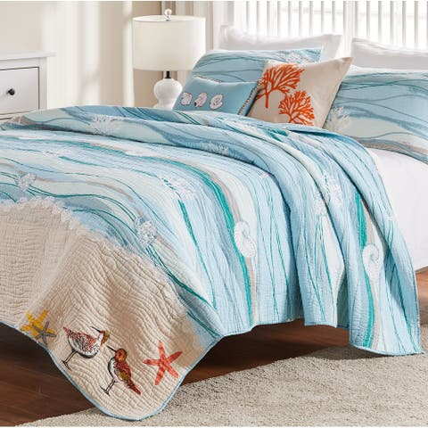Greenland Home Fashions Maui Bonus Cotton Quilt Set