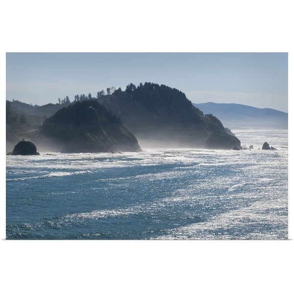 """USA, Oregon coastline"" Poster Print. Opens flyout."
