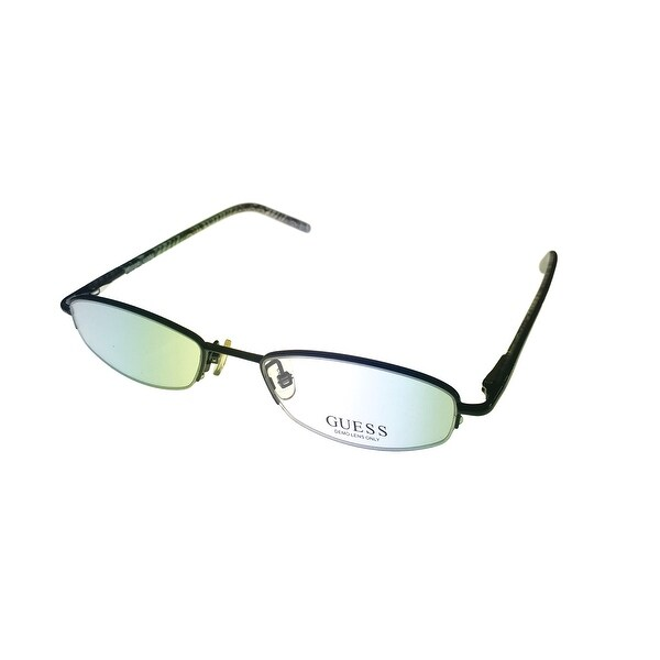 Guess Womens Opthalmic Eyeglass Oval Rimless Black Metal 1492 - Medium