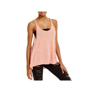 Project Social T Womens Tank Top Sweater Knit Frayed
