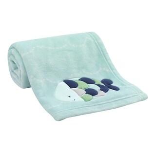 Lambs & Ivy Oceania Blanket - Blue, Aquatic, Animals, Boy