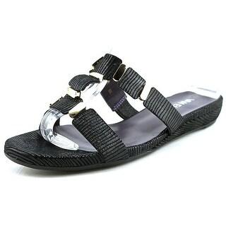 Vaneli Blisse N/S Open Toe Leather Slides Sandal