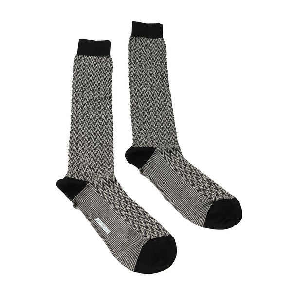 Missoni GM00CMU5240 0004 Black/Cream Knee Length Socks