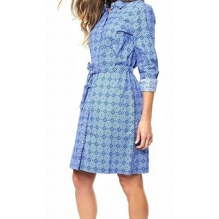 Tommy Hilfiger NEW Blue Women's Size Small S Button Front Shirt Dress