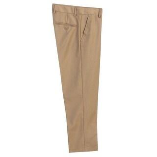 Little Boys Khaki Flat Front Formal Special Occasion Dress Pants 2T-7
