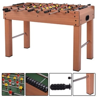 Costway 48'' Foosball Table Competition Game Soccer Arcade Sized Football Sports Indoor