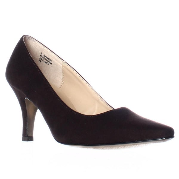 KS35 Clancy Classic Pointed Toe Pump Heels, Medium Brown