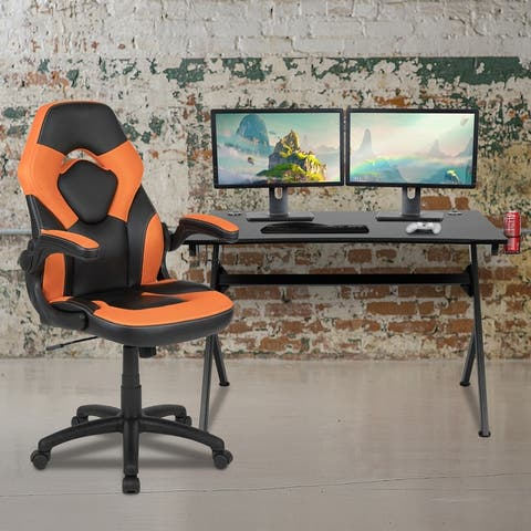 Gaming Desk Bundle - Cup/Headphone Holders, Wire Management