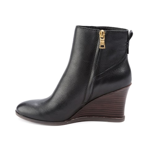Lucca Lane Womens Zippy Leather Almond Toe Ankle Fashion Boots