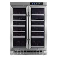 """EdgeStar CWR361FD 24"""" Wide 36 Bottle Built-In Wine Cooler with Dual Cooling Zones - Stainless Steel - N/A"""