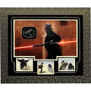 Darth Maul Dual Light Saber Front View View Autographed Collage