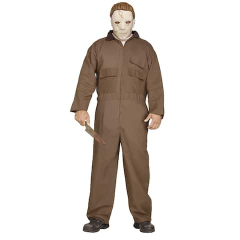 Mens Michael Myers Costume with Memory-Flex Mask - Standard (42-46 chest)