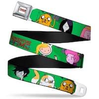 Adventure Time Logo White Full Color Adventure Time 4 Fan Fiction Seatbelt Belt