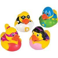 "Rhode Island Novelty 2"" Super Hero Rubber Ducks (12 Superhero Duckies)"