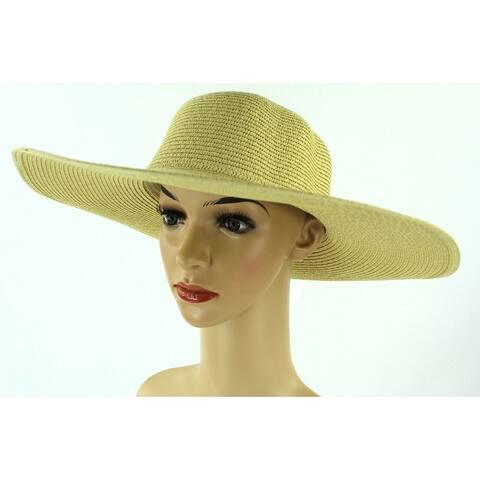 b05b5bd1ea271 Women s Summer Large Floppy Folding Wide Brim Cap Sun Straw Beach Hat