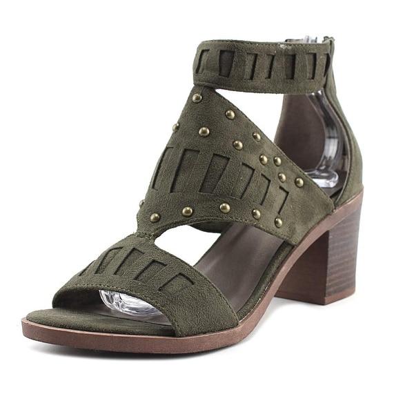 Michael Antonio Sharyl Women Open Toe Canvas Green Sandals