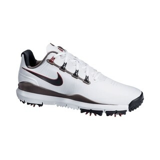 Nike Men's TW 14 White/Met.Pewter/Varsity Red/Met.Dark Grey Golf Shoes 599416-100