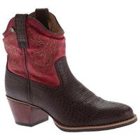 Twisted X Boots Women's WWF0001 Western Fashion Boot Brown/Red Leather