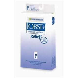 Relief 30-40 mmHg Open Toe Garter Style Thigh Highs - No Grip Top