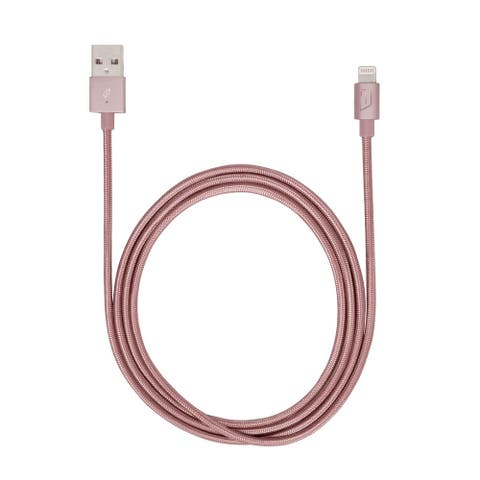 iStore Lightning Charge 4ft (1.2m) Braided Cable (Rose Gold) - ACC99404CAI