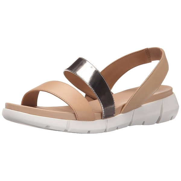 Calvin Klein Womens Winny Cow Silk Open Toe Casual Sport Sandals