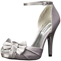 Nina Womens Ella Peep Toe Bridal Ankle Strap Sandals