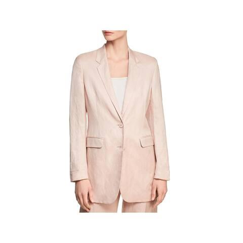 Donna Karan Womens Two-Button Blazer Long Professional