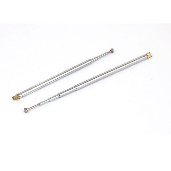 2pcs 14 Long 5 Sections Telescopic Antenna Aerial Mast for TV RC Controller