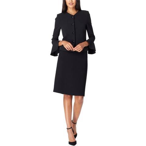 Tahari Womens Solid A-line Skirt, Black, 8