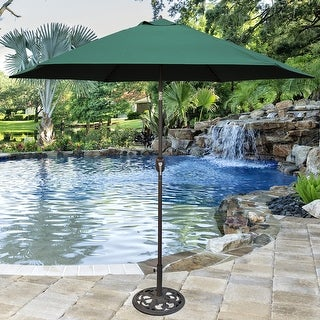 Link to Tropishade Aluminum Patio Umbrella with Green Canopy Similar Items in Patio Umbrellas & Shades